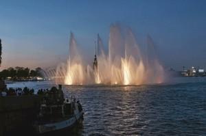Neva Floating Fountain StPetersburg